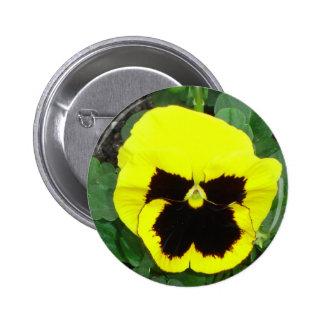 Botón amarillo del pensamiento pin redondo de 2 pulgadas
