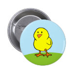 Botón amarillo del polluelo pin