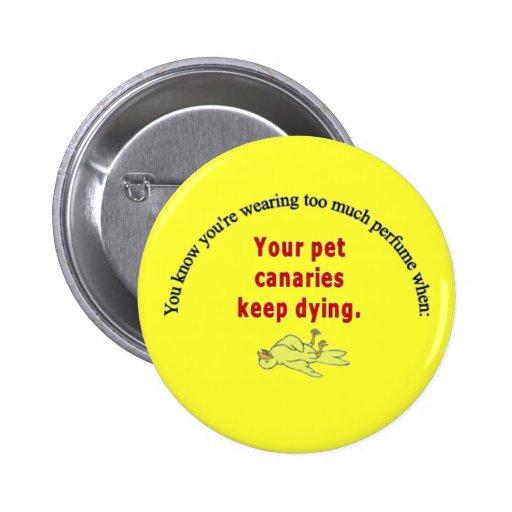Botón amarillo muerto pins