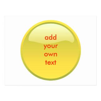botón amarillo postales