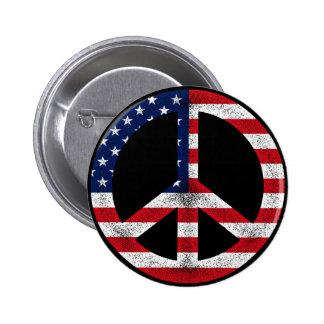 Botón americano de la paz pin