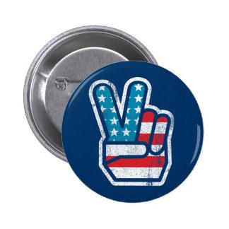 Botón americano de la paz pin redondo de 2 pulgadas