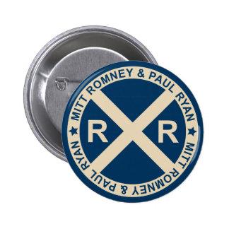 Botón americano de los cruces de Romney Ryan Pin Redondo De 2 Pulgadas