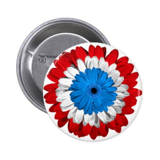 Botón americano del flower power del orgullo pin redondo de 2 pulgadas