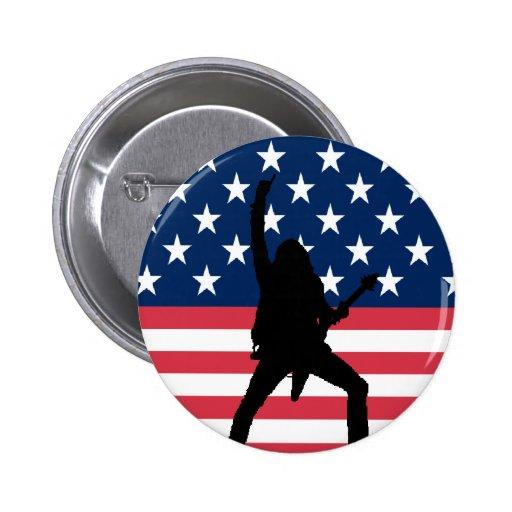 Botón americano del metal pin