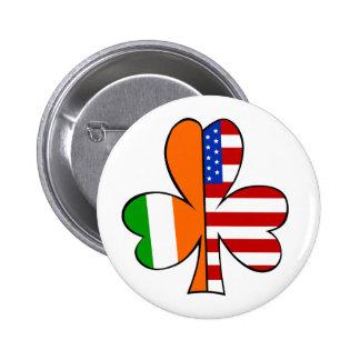 Botón americano irlandés pins