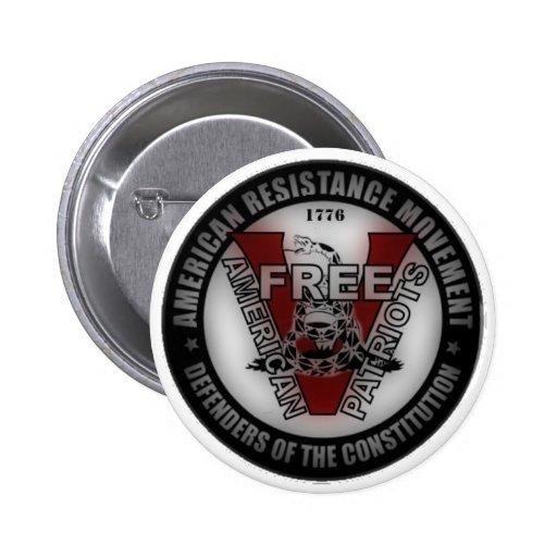 Botón americano libre de los patriotas pin redondo de 2 pulgadas