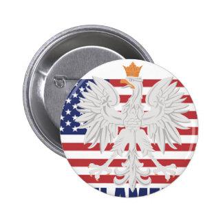 Botón americano polaco pins