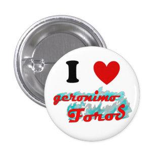 Boton: Amo Geronimo Foros Pin