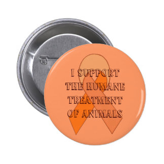 Botón anaranjado de la cinta pin redondo de 2 pulgadas