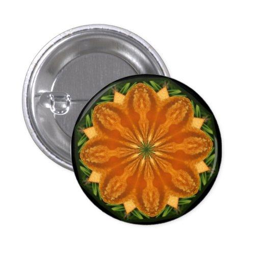 Botón anaranjado del agolpamiento pins