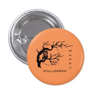 Botón anaranjado y negro del Pin de Halloween del