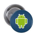 Botón androide azul pins