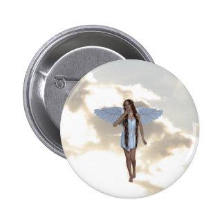 Botón angelical del bailarín de la nube pin
