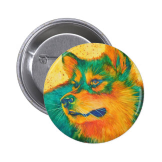 Botón animal colorido esquimal americano del amant pins
