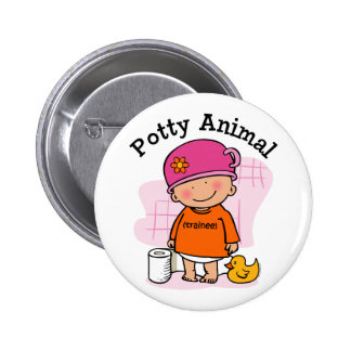 Botón animal insignificante del chica pins