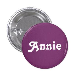 Botón Annie Pin Redondo De 1 Pulgada