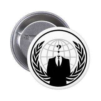 Botón anónimo pin redondo de 2 pulgadas