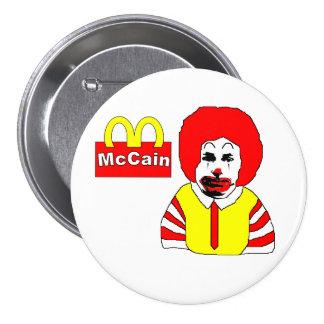 Botón anti de McCain Pin Redondo De 3 Pulgadas