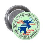 Botón anti de OBAMA del convenio de McCAIN Pin