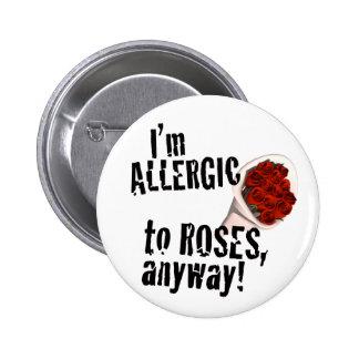 Botón anti del el día de San Valentín Pin Redondo De 2 Pulgadas