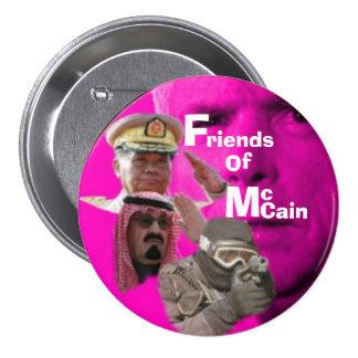 Botón Anti-McCain… Pin Redondo De 3 Pulgadas