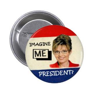 Botón Anti-Palin Pin Redondo De 2 Pulgadas