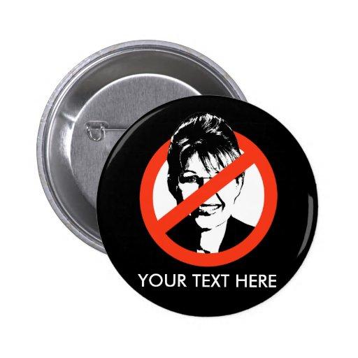 Botón Anti-Palin/texto de encargo Pin Redondo De 2 Pulgadas