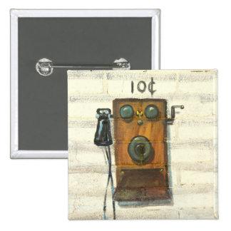 botón antiguo del teléfono de pago