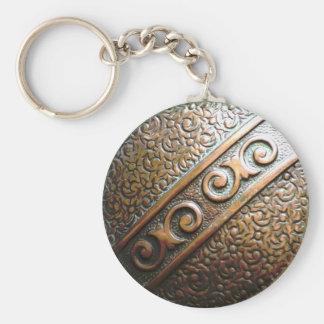 Botón antiguo llavero redondo tipo pin
