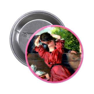 Botón apasionado de Vanlentine del vintage del Pin Redondo De 2 Pulgadas