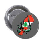 Botón árabe de la lengua de Líbano Pins
