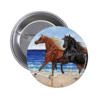 Botón árabe del caballo de la playa del galope pin