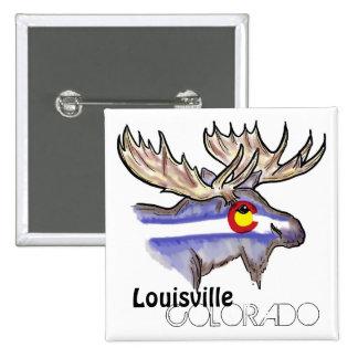 Botón artístico de los alces de la bandera de Loui Pin