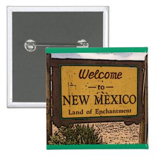Botón artístico del signo positivo de New México Pin