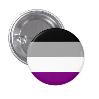 Botón asexual de la bandera pin redondo de 1 pulgada