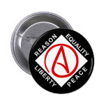 Botón ateo del logotipo