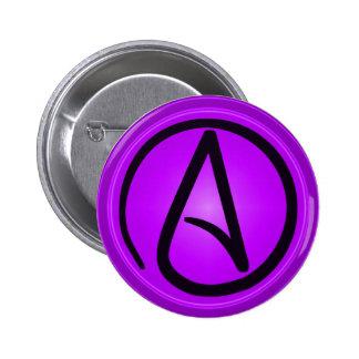 Botón ateo del logotipo pins
