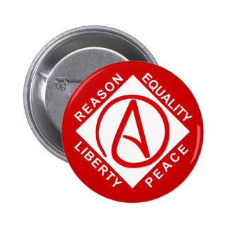 Botón ateo del logotipo pin redondo de 2 pulgadas