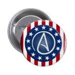 Botón ateo del patriota pin redondo de 2 pulgadas