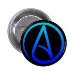 Botón ateo del símbolo pin