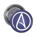Botón ateo del símbolo pin redondo de 2 pulgadas