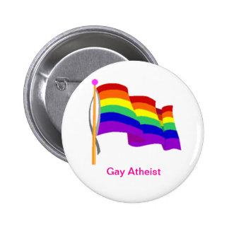 Botón ateo gay pin redondo de 2 pulgadas
