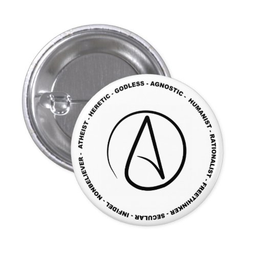 Botón ateo pin
