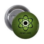 Botón atómico Nerdy, verde Pins
