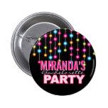 Botón atractivo del fiesta de Bachelorette de las  Pin Redondo De 2 Pulgadas