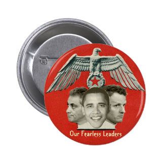 Botón audaz de los líderes de Obama Pin Redondo De 2 Pulgadas