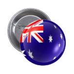 Botón australiano de la bandera pins