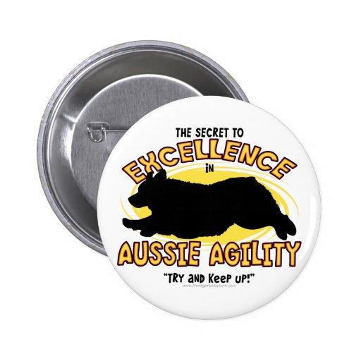 Botón australiano del secreto del pastor de la agi pin redondo de 2 pulgadas