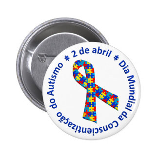 Bóton Awareness of the Autismo Pinback Button
